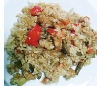 Рис с овощами и куриной грудкой 200 г.