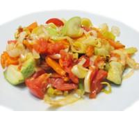 Печеные овощи с луком-пореем 150 г.