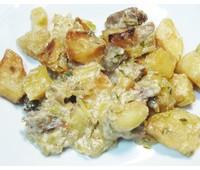 Картофель тушеный в сливках с уточкой 230 г.