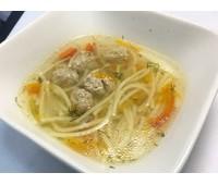 Суп-лапша с фрикадельками из индейки 250 г.