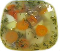 Суп по-деревенски с говядиной 250 г.