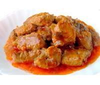 Поджарка из свинины (свинина, лук, том. паста, ) 100гр