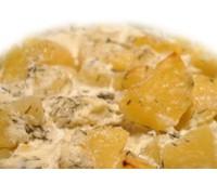 Картофель запеченный со сметаной 200гр